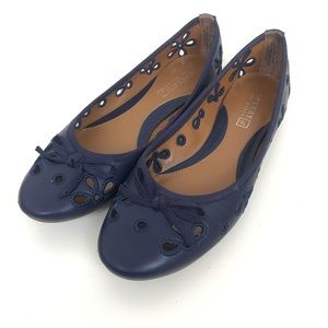 Sperry Luna 7 Navy Blue Flats Ballet Shoes Eyelet